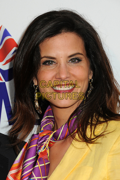 Lu Parker.BritWeek 2012 Official Launch held at a Private Residence, Los Angeles, California, USA..April 24th, 2012.headshot portrait yellow purple print scarf.CAP/ADM/BP.©Byron Purvis/AdMedia/Capital Pictures.