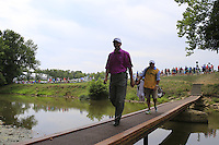 Jerry Smith (USA) crosses the footbridge to the 2nd tee during Thursday's Round 1 of the 2014 PGA Championship held at the Valhalla Club, Louisville, Kentucky.: Picture Eoin Clarke, www.golffile.ie: 6th August 2014