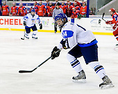 Jesse Mankinen (Finland - 14) - Russia defeated Finland 4-0 at the Urban Plains Center in Fargo, North Dakota, on Friday, April 17, 2009, in their semi-final match during the 2009 World Under 18 Championship.