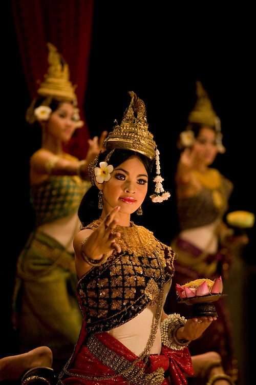Apsara cultural dance performance in Siem Reap,Cambodia