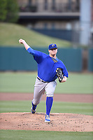 ***Temporary Unedited Reference File***Omaha Storm Chasers starting pitcher Brooks Pounders (29) during a game against the Memphis Redbirds on May 5, 2016 at AutoZone Park in Memphis, Tennessee.  Omaha defeated Memphis 5-3.  (Mike Janes/Four Seam Images)