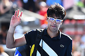 11th January 2018, ASB Tennis Centre, Auckland, New Zealand; ASB Classic, ATP Mens Tennis;  Hyeon Chung (KOR) leaves centre court after losing to David Ferrer (ESP) during the ASB Classic ATP Men's Tournament Day 4 Quarter Finals