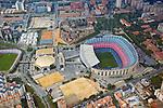 Aerial view of FC Barcelona Stadium