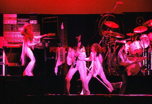 Angel 1978 Gregg Giuffria, Punky Meadows,  Frank Dimino,  Barry Brandt, Mickie Jones