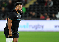 Ospreys' Ma'afu Fia during the pre match warm up<br /> <br /> Photographer Ashley Crowden/CameraSport<br /> <br /> Guinness Pro14 Round 6 - Ospreys v Scarlets - Saturday 7th October 2017 - Liberty Stadium - Swansea<br /> <br /> World Copyright &copy; 2017 CameraSport. All rights reserved. 43 Linden Ave. Countesthorpe. Leicester. England. LE8 5PG - Tel: +44 (0) 116 277 4147 - admin@camerasport.com - www.camerasport.com