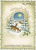 Interlitho, CHRISTMAS SANTA, SNOWMAN, nostalgic, paintings, landscape, deer(KL2458/1,#X#) Weihnachten, nostalgisch, Navidad, nostálgico, illustrations, pinturas