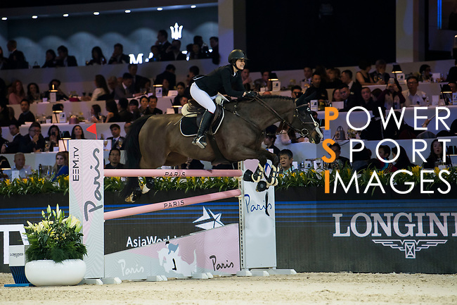 Reed Kessler of the USA riding KS Stakki competes in the Longines Speed Challenge during the Longines Masters of Hong Kong at AsiaWorld-Expo on 10 February 2018, in Hong Kong, Hong Kong. Photo by Diego Gonzalez / Power Sport Images