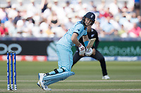 Joe Root (England) guides to third and sets off for a single during England vs New Zealand, ICC World Cup Cricket at The Riverside Ground on 3rd July 2019