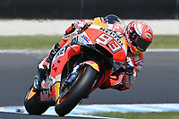 October 27, 2018: Marc Marquez (SPA) on the No.93 Honda from Repsol Honda Team during practice session three at the 2018 MotoGP of Australia at Phillip Island Grand Prix Circuit, Victoria, Australia. Photo Sydney Low
