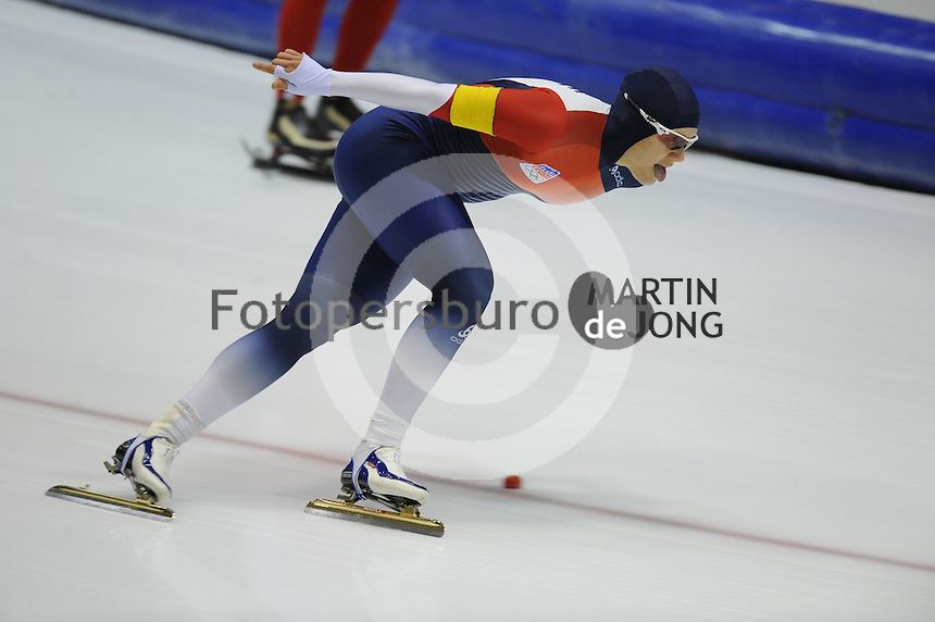 SCHAATSEN: HEERENVEEN: 25-10-2014, IJsstadion Thialf, Trainingswedstrijd schaatsen, Karolina Erbanova, ©foto Martin de Jong