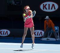 Agnieszka Radwanska..Tennis - Australian Open - Grand Slam -  Melbourne Park  2013 -  Melbourne - Australia - Tuesday 22nd January  2013. .© AMN Images, 30, Cleveland Street, London, W1T 4JD.Tel - +44 20 7907 6387.mfrey@advantagemedianet.com.www.amnimages.photoshelter.com.www.advantagemedianet.com.www.tennishead.net