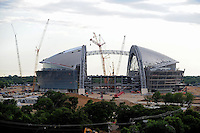 Jun. 17, 2008; Arlington, TX, USA; The new stadium being built for the Dallas Cowboys under construction in Arlington. The stadium is scheduled to open for the 2009 season. Mandatory Credit: Mark J. Rebilas-