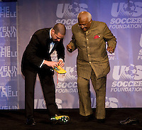 Desmond Tutu, Antonio Zea. The 2010 US Soccer Foundation Gala was held at City Center in Washington, DC.