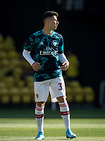 Gabriel Martinelli of Arsenal pre match during the Premier League match between Watford and Arsenal at Vicarage Road, Watford, England on 16 September 2019. Photo by Andy Rowland.