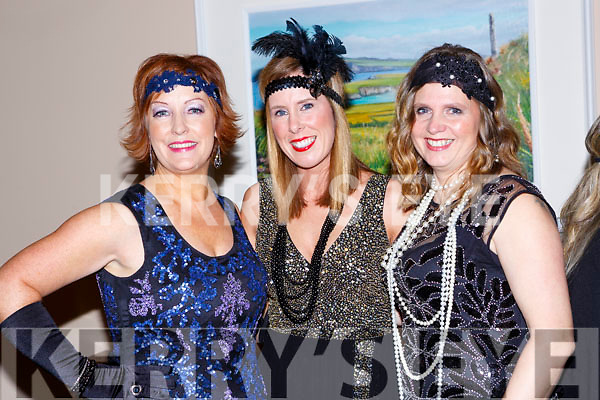 Eileen Kennedy, Helena Fiztgerald and Annette Monch at  The Great Gatsby Womens Christmas ball in the Brehon Hotel