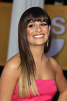 LOS ANGELES, CA - JANUARY 27: Lea Michele at The 19th Annual Screen Actors Guild Awards at the Los Angeles Shrine Exposition Center in Los Angeles, California. January 27, 2013. Credit: mpi27/MediaPunch Inc.