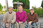 A special fund has been set up to help fight a court battle to open up a section of the Kerry way in Sneem which is currently closed forcing walkers onto the main road. .L-R  Jimmy Breen, John Vincent  O'Sullivan and Teddy McCarthy