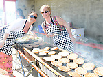 Alison Grant and Tracey Gough at the barbacue at Tullyallen Sports Day. Photo:Colin Bell/pressphotos.ie
