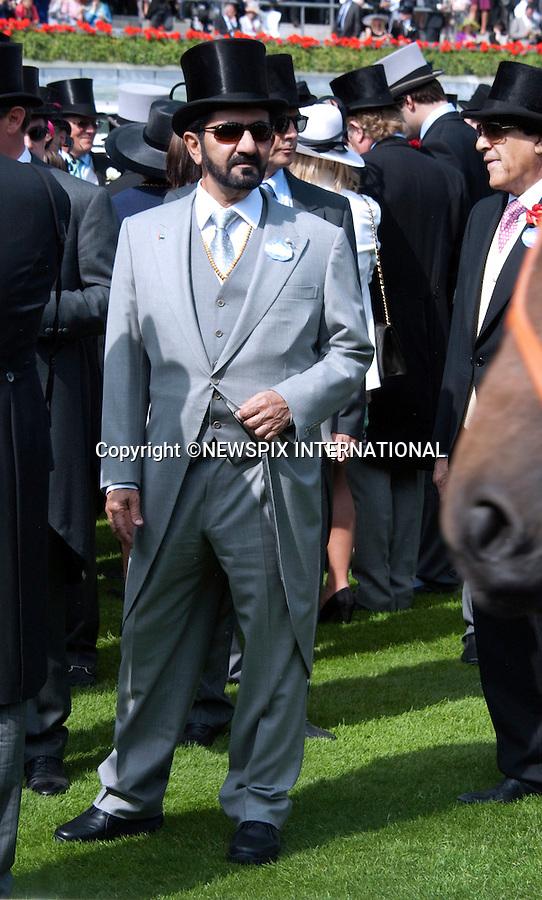 "MOHAMMED BIN RASHID AL MAKTOUM, ROYAL ASCOT.Royal Ascot Day 1, Ascot_14/11/2011.Mandatory Photo Credit: ©Shaw/NEWSPIX INTERNATIONAL..**ALL FEES PAYABLE TO: ""NEWSPIX INTERNATIONAL""**..PHOTO CREDIT MANDATORY!!: Newspix International(Failure to credit will incur a surcharge of 100% of reproduction fees)..IMMEDIATE CONFIRMATION OF USAGE REQUIRED:.Newspix International, .31 Chinnery Hill, Bishop's Stortford, ENGLAND CM23 3PS..Tel:+441279 324672  ; Fax: +441279656877..Mobile:  0777568 1153..e-mail: info@newspixinternational.co.uk"