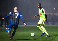 Bolton Wanderers' Muhammadu Faal competing with Rochdale's Stephen Dooley (left) <br /> <br /> Photographer Andrew Kearns/CameraSport<br /> <br /> The EFL Sky Bet League One - Rochdale v Bolton Wanderers - Saturday 11th January 2020 - Spotland Stadium - Rochdale<br /> <br /> World Copyright © 2020 CameraSport. All rights reserved. 43 Linden Ave. Countesthorpe. Leicester. England. LE8 5PG - Tel: +44 (0) 116 277 4147 - admin@camerasport.com - www.camerasport.com