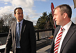 5-3-2012 HOTELIERS CONFERNCE KILKENNY MONDAY: Minister for Tourism Leo Varadakar chatting with Paul Gallagher, President, IHF at the IHF conference in the Hotel Kilkenny on Monday..Picture by Don MacMonagle...pic from IHF