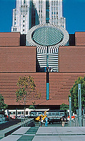 No. California: San Francisco Museum of Modern Art. Mario Botta. (Telephone building behind.)