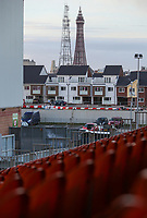 A view of the Blackpool Tower from Bloomfield Road, home of Blackpool<br /> <br /> Photographer Alex Dodd/CameraSport<br /> <br /> The EFL Sky Bet League Two - Blackpool v Stevenage - Tuesday 14th March 2017 - Bloomfield Road - Blackpool<br /> <br /> World Copyright &copy; 2017 CameraSport. All rights reserved. 43 Linden Ave. Countesthorpe. Leicester. England. LE8 5PG - Tel: +44 (0) 116 277 4147 - admin@camerasport.com - www.camerasport.com