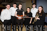 Performing at the Mistletoe & Wine evening in the Ballygarry House Hotel on Sunday members of the Kerry School of Music pictured l-r; Sean McElligott, Máirtín Ó Cathasaigh, Orla O'Connor, Caithríona Fitzmaurice, Dylan O'Sullivan & Mairead Fitzmaurice.