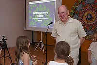 New York, NY, USA - May 17, 2017: Science Happy Hour at the Lower East Side Girls Club hosted by Biobus: Naked DNA in Seawater with speaker Dr. Jesse Ausubel