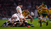 England's Ben Youngs in action during todays match<br /> <br /> Photographer Bob Bradford/CameraSport<br /> <br /> 2018 Quilter Internationals - England v Australia - Saturday 24th November 2018 - Twickenham - London<br /> <br /> World Copyright &copy; 2018 CameraSport. All rights reserved. 43 Linden Ave. Countesthorpe. Leicester. England. LE8 5PG - Tel: +44 (0) 116 277 4147 - admin@camerasport.com - www.camerasport.com