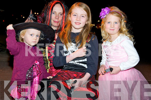 Pictured at the annual Halloween parade in Killorglin on Saturday night were Moira, Kayla, Clara and Sarah Lynn Wharton, Beaufort.