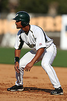 "University of South Florida James Ramsay #15 during a game vs. the Miami Hurricanes in the ""Florida Four"" at George M. Steinbrenner Field in Tampa, Florida;  March 1, 2011.  USF defeated Miami 4-2.  Photo By Mike Janes/Four Seam Images"