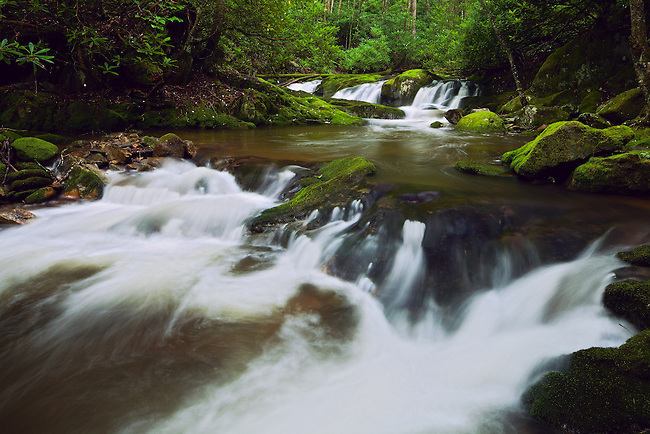 Summer cascade, Rocky Fork