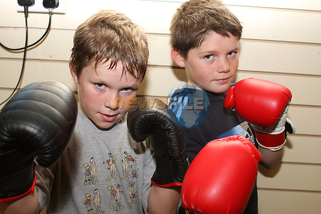 Aaron and Tyrone Moran at the opening of Tredagh Boxing Club's new premises on Scholes Lane...(Photo credit should read Jenny Matthews/NEWSFILE)...