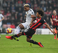 Wolverhampton Wanderers' Adama Traore (left) is tackled by Bournemouth's Nathan Ake (right) <br /> <br /> Photographer David Horton/CameraSport<br /> <br /> The Premier League - Bournemouth v Wolverhampton Wanderers - Saturday 23 February 2019 - Vitality Stadium - Bournemouth<br /> <br /> World Copyright © 2019 CameraSport. All rights reserved. 43 Linden Ave. Countesthorpe. Leicester. England. LE8 5PG - Tel: +44 (0) 116 277 4147 - admin@camerasport.com - www.camerasport.com