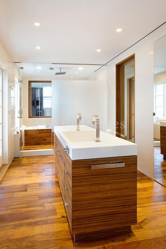 modern wooden washstand