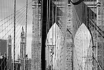 Black and White of Brooklyn Bridge.