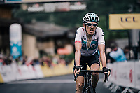 Geraint Thomas (GBR/SKY) finishes a few seconds behind stage winner Dan Martin and becomes the new GC leader<br /> <br /> Stage 5: Grenoble > Valmorel (130km)<br /> 70th Critérium du Dauphiné 2018 (2.UWT)