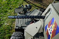 BNPS.co.uk (01202 558833)<br /> Pic: ZacharyCulpin/BNPS<br /> <br /> A replica machine gun should keep the traffic wardens at bay...<br /> <br /> Bullet proof bargain -  This Cold War era British 'little tank' is being touted as a armour plated investment with ultra low insurance, and no VAT,  road tax or MoT.<br /> <br /> The Ferret scout car was a reconnaissance vehicle used by the British Army in Germany during the height of the Cold War.<br /> <br /> This one was decommissioned in the 1990s and has been owned in recent years by a private collector.<br /> <br /> It is now being sold at auction for a pre-sale estimate of between £15,000 to £20,000.<br /> <br /> But after the initial outlay, the vehicle is said to be incredibly cheap to run.