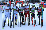 Team sprint of the FIS Cross Country Ski World Cup  in Dobbiaco, Toblach, on January 15, 2017. For ladies Russia wins ahead of Sweden and Norway. For men's Canada wins ahead of Sweden and Italy's with Dietmar Noeckler and Federico Pellegrino. Credit: Pierre Teyssot