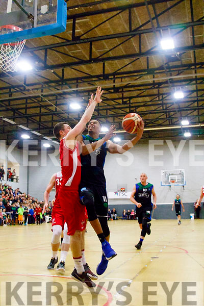 Garvey's Tralee Warriors Trae Pemberton in action against UCC Demons last Sunday at Tralee sports complex