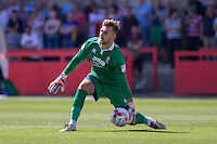 Russell Griffiths of Cheltenham during the Sky Bet League 2 match between Cheltenham Town and Leyton Orient at the LCI Rail Stadium, Cheltenham, England on 6 August 2016. Photo by Mark  Hawkins / PRiME Media Images.