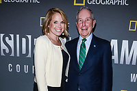 "NEW YORK - APRIL 9: Katie Couric, Host and Executive Producer and Mike Bloomberg, Founder, Bloomberg LP & Bloomberg Philanthropies and Three term Mayor of New York City attends National Geographic's ""America Inside Out with Katie Couric"" Premiere Screening at the Titus Theater at MOMA on April 9, 2018 in New York City. ""America Inside Out with Katie Couric"", a new six-part documentary series, follows Couric as she travels the country to talk with the people bearing witness to the most complicated and consequential questions in American culture today. The weekly series premieres Wednesday, April 11, 2018, at 10/9c and will air globally on National Geographic.(Photo by Anthony Behar/NatGeo/PictureGroup)"