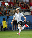 Germany's Mitchell Weiser in action during the UEFA Under 21 Final at the Stadion Cracovia in Krakow. Picture date 30th June 2017. Picture credit should read: David Klein/Sportimage