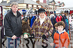 Michael, Joan and Patrick Gallivan Killorglin with their donkey at the Killorglin Pattern Fair on Saturday