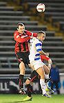 Morton v St Johnstone....30.10.13   Scottish League Cup Quarter Final<br /> Dave Mackay and Dougie Imrie<br /> Picture by Graeme Hart.<br /> Copyright Perthshire Picture Agency<br /> Tel: 01738 623350  Mobile: 07990 594431