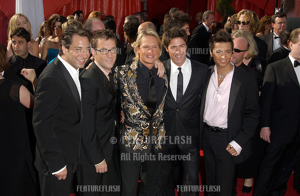 stars of Queer Eye for the Straight Guy at the 55t Annual Emmy Awards in Los Angeles..Sept 21, 2003