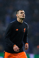 Liverpool's Dejan Lovren during the pre-match warm-up <br /> <br /> Photographer Craig Mercer/CameraSport<br /> <br /> UEFA Champions League Round of 16 First Leg - FC Porto v Liverpool - Wednesday 14th February 201 - Estadio do Dragao - Porto<br />  <br /> World Copyright &copy; 2018 CameraSport. All rights reserved. 43 Linden Ave. Countesthorpe. Leicester. England. LE8 5PG - Tel: +44 (0) 116 277 4147 - admin@camerasport.com - www.camerasport.com