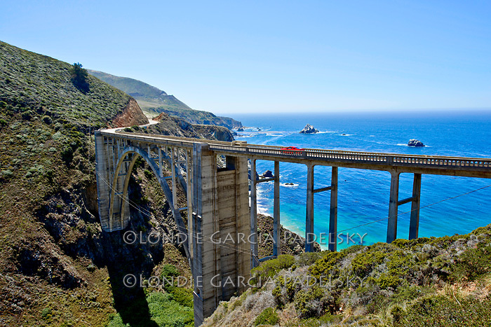 Bixby Bridge, Scenic Highway 1, a National Scenic Byway on the Central Coast of California