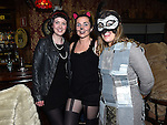 Ashley Callaghan, Maria Butterly and Annastasia Flynn pictured at Naomh Fionnbarra fancy dress party in the Grove hotel Dunleer. Photo:Colin Bell/pressphotos.ie